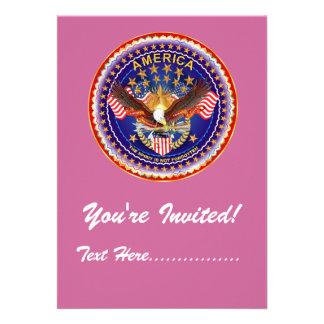 Invitation 5 x 7 America not forgotten