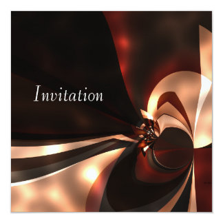 Invitation Abstract Art Cappuccino Glow
