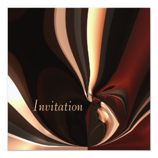 Invitation Abstract Art Chocolate Melting Moment
