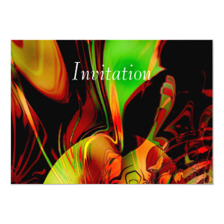 Invitation Abstract Art Feeling Green