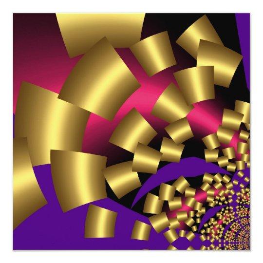 Invitation Abstract Gold Confetti
