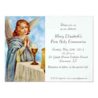 Invitation: Angel Ponders 17 Cm X 22 Cm Invitation Card
