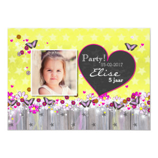 Invitation anniversary child - butterflies and