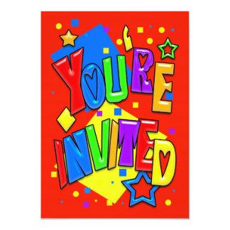 Invitation Card Any Occasion Colourful