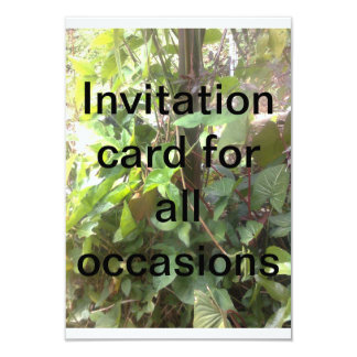Invitation card for all occasions