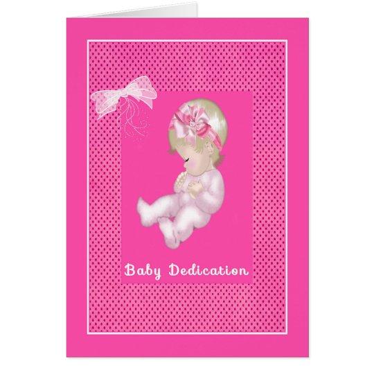 Invitation Card for Baby Girl Dedication Ceremony