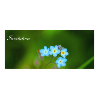 Invitation Card Forget Me Not Design