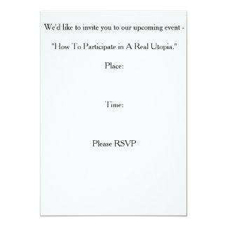 """Invitation Card - """"Real Utopia Event"""""""