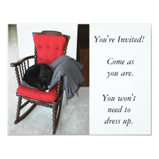 Invitation: Come As You Are. Features cat 11 Cm X 14 Cm Invitation Card
