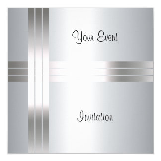 Invitation Create your own Silver Invitation