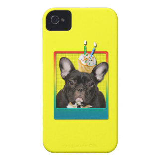 Invitation Cupcake 2 Year Old - French Bulldog iPhone 4 Case-Mate Cases