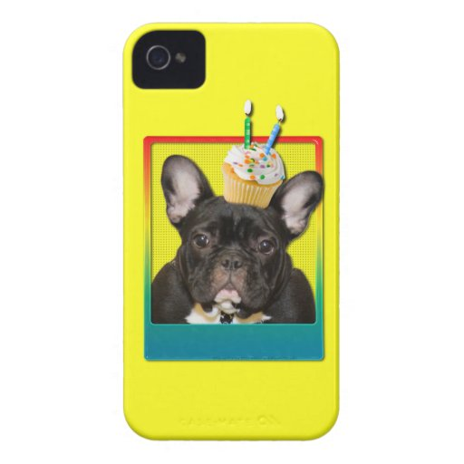 Invitation Cupcake 2 Year Old - French Bulldog iPhone 4 Cover