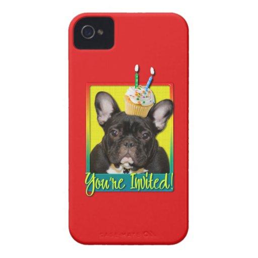 Invitation Cupcake 2 Year Old - French Bulldog Case-Mate Blackberry Case