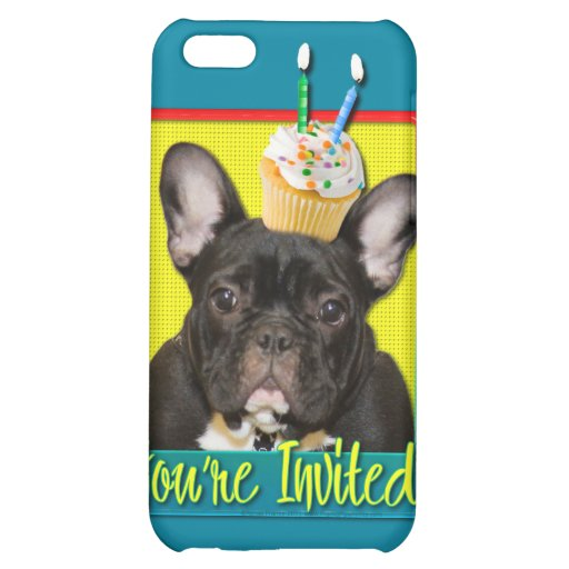 Invitation Cupcake 2 Year Old - French Bulldog Case For iPhone 5C