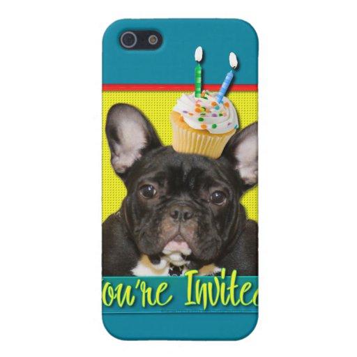Invitation Cupcake 2 Year Old - French Bulldog iPhone 5 Case