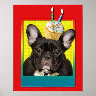 Invitation Cupcake 2 Year Old - French Bulldog Print