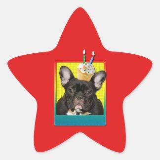 Invitation Cupcake 2 Year Old - French Bulldog Stickers