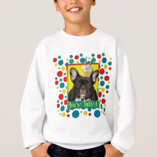 Invitation Cupcake 2 Year Old - French Bulldog Sweatshirt