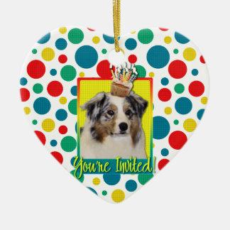Invitation Cupcake - Australian Shepherd Christmas Tree Ornament