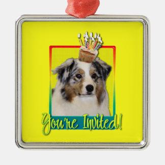 Invitation Cupcake - Australian Shepherd Ornament