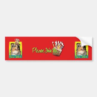Invitation Cupcake - Australian Shepherd - Dustine Bumper Sticker