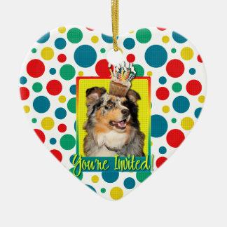 Invitation Cupcake - Australian Shepherd - Dustine Ornament