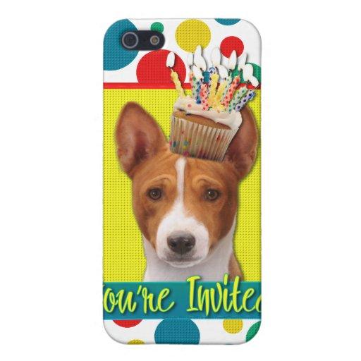 Invitation Cupcake - Basenji iPhone 5 Cases