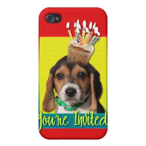 Invitation Cupcake - Beagle Puppy - Chloe iPhone 4 Covers