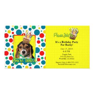Invitation Cupcake - Beagle Puppy - Chloe Photo Greeting Card