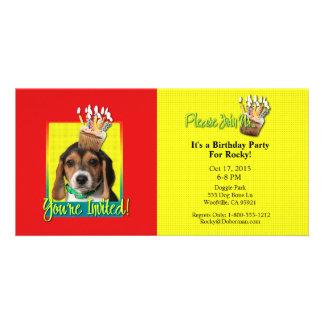 Invitation Cupcake - Beagle Puppy - Chloe Custom Photo Card