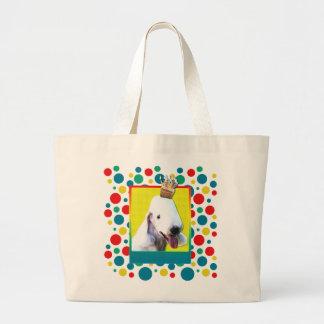 Invitation Cupcake - Bedlington Terrier Large Tote Bag