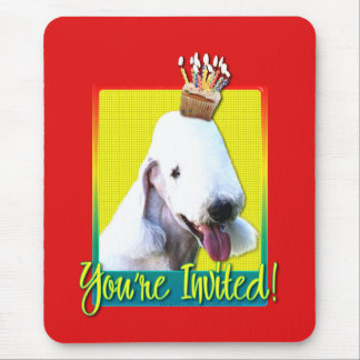 Invitation Cupcake - Bedlington Terrier Mouse Pad