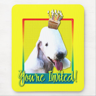 Invitation Cupcake - Bedlington Terrier Mouse Pad