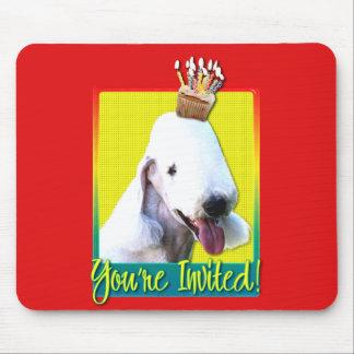 Invitation Cupcake - Bedlington Terrier Mouse Pads