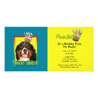Invitation Cupcake - Bernese Mountain Dog Picture Card