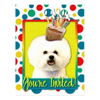 Invitation Cupcake - Bichon Frise Postcard