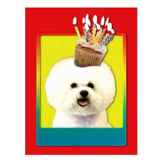 Invitation Cupcake - Bichon Frise Postcards