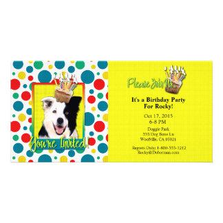 Invitation Cupcake - Border Collie Picture Card
