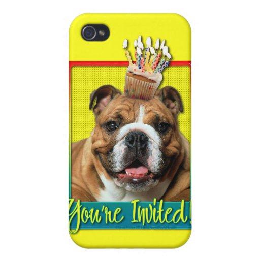 Invitation Cupcake - Bulldog - Dark iPhone 4 Covers