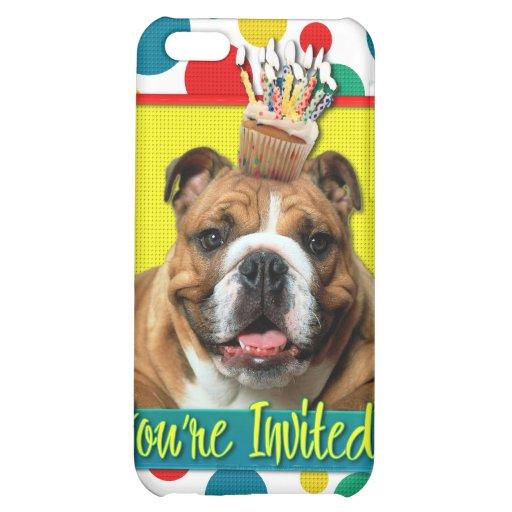 Invitation Cupcake - Bulldog - Dark Cover For iPhone 5C