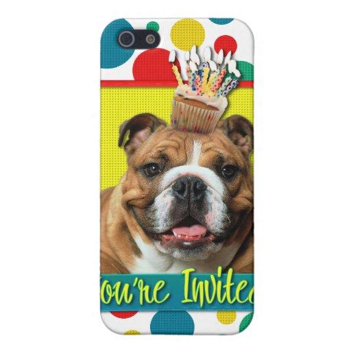 Invitation Cupcake - Bulldog - Dark iPhone 5 Cover