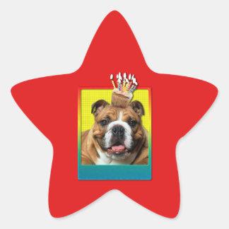 Invitation Cupcake - Bulldog - Dark Star Sticker
