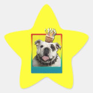 Invitation Cupcake - Bulldog - Light Star Sticker