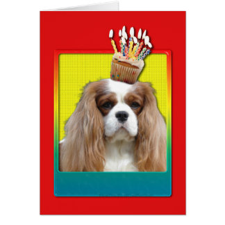 Invitation Cupcake - Cavalier - Blenheim Greeting Card