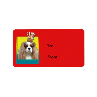 Invitation Cupcake - Cavalier - Blenheim Address Label