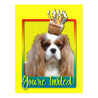 Invitation Cupcake - Cavalier - Blenheim Postcard