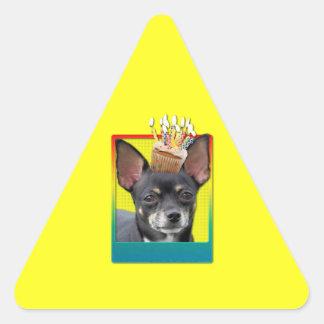 Invitation Cupcake - Chihuahua - Isabella Triangle Sticker