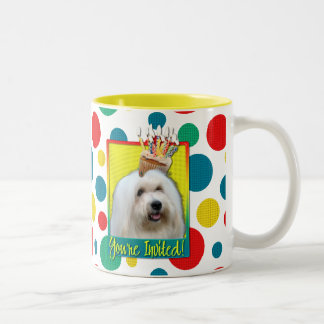 Invitation Cupcake - Coton de Tulear Two-Tone Mug