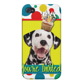 Invitation Cupcake - Dalmatian Cases For iPhone 4