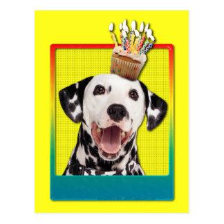 Invitation Cupcake - Dalmatian Postcard